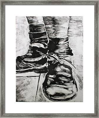 If The Shoe Fits Framed Print by Amanda Just