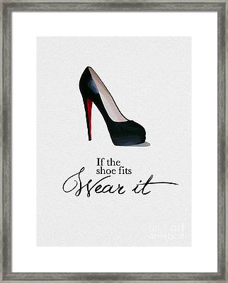 If The Shoe Fits Framed Print by Rebecca Jenkins