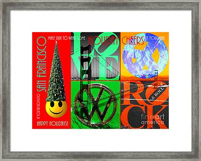 If You Are Going To San Francisco Be Sure To Wear Some Holiday Cheers In Your Hair 20140608 Framed Print by Wingsdomain Art and Photography