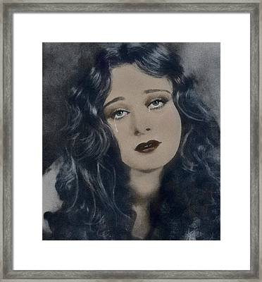 If You Leave Me Now... Framed Print by Marie  Gale
