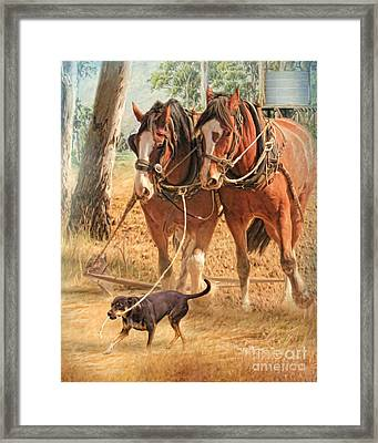 If You Want The Job Done Framed Print by Trudi Simmonds