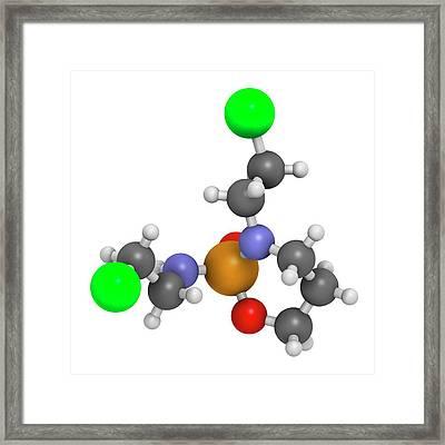Ifosfamide Cancer Chemotherapy Drug Framed Print by Molekuul