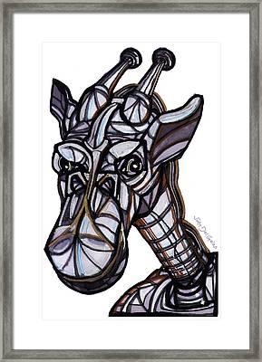 iGiraffe Framed Print by Del Gaizo