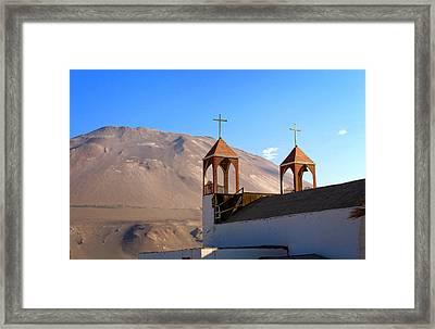 Iglesia De San Geronimo Poconchile Chile Framed Print by Kurt Van Wagner