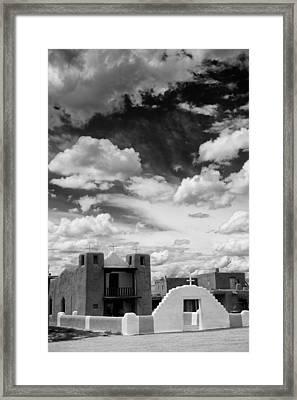 Iglesita De Pueblo De Taos - New Mexico Framed Print by Silvio Ligutti