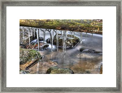 Icicles Time Framed Print by Veikko Suikkanen