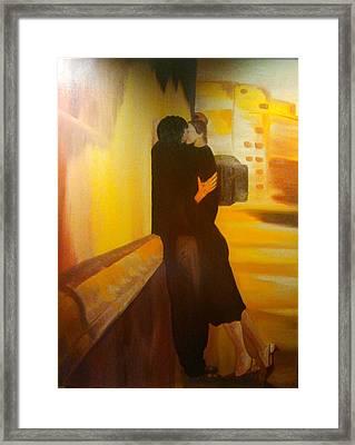 Il Bacio Framed Print by Carmen Cristea