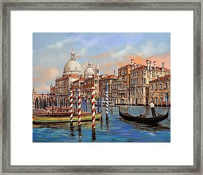 Il Canal Grande Framed Print by Guido Borelli