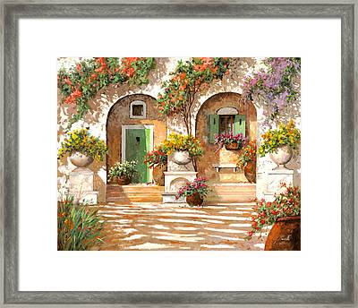 Il Cortile Framed Print by Guido Borelli