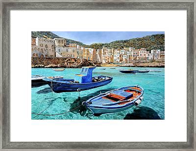 Il Mare Smeraldo Framed Print by Guido Borelli