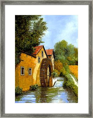Il Mulino Ad Acqua Framed Print by Guido Borelli