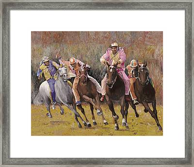 il palio dell'Assunta Framed Print by Guido Borelli