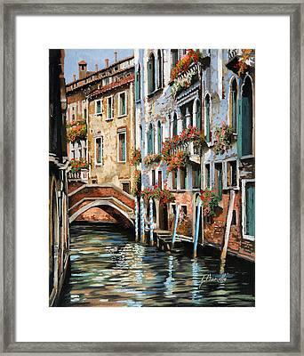 Il Ponte E I Pali Framed Print by Guido Borelli