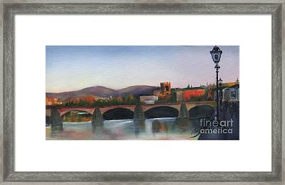 Il Ponte Santa Trinita Framed Print by Leah Wiedemer