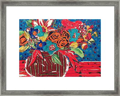 Ilana's Flower Arangement Framed Print by Diane Fine