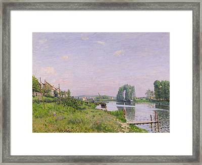 Ile Saint Denis Framed Print by Alfred Sisley
