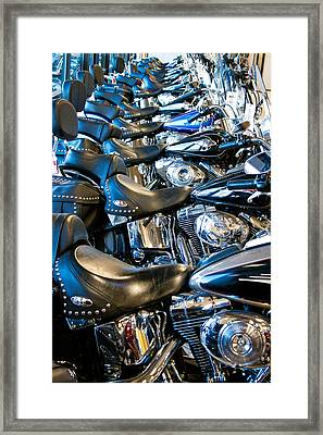I'll Have A Dozen Harley's To Go Please Framed Print by David Patterson