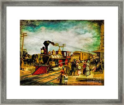 Illinois Central Railroad 1882 Framed Print by Lianne Schneider