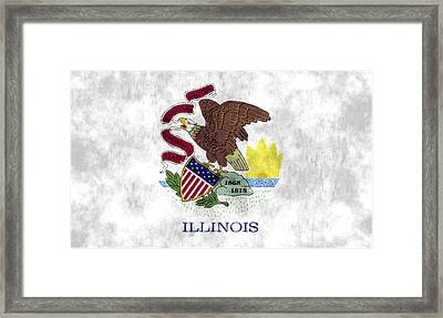 Illinois Flag Framed Print by World Art Prints And Designs