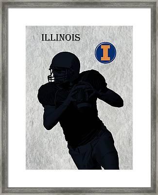 Illinois Football Framed Print by David Dehner