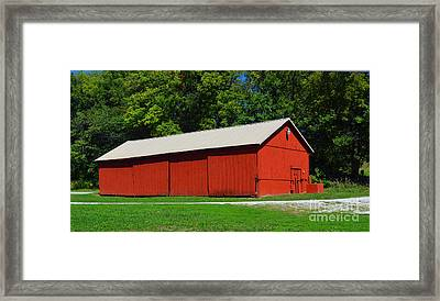 Illinois Red Barn Framed Print by Luther   Fine Art