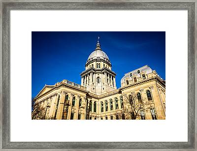 Illinois State Capitol Building In Springfield Framed Print by Paul Velgos