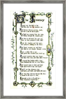 Illuminated Poem 1903 Framed Print by Padre Art