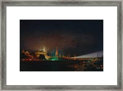 Illumination Of The Kremlin Framed Print by Aleksei Petrovich Bogolyubov