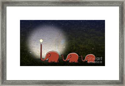 Illumination Framed Print by Sassan Filsoof