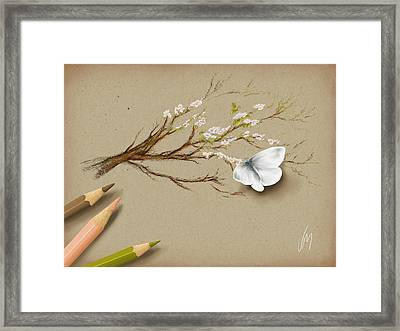 Illusion Framed Print by Veronica Minozzi