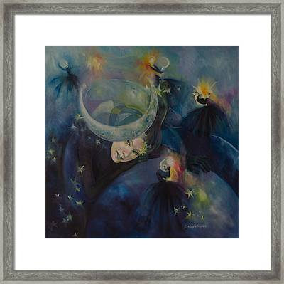 Illusory Waltz Framed Print by Dorina  Costras