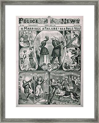 Illustrated Police News Framed Print by British Library
