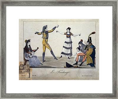Illustration Depicting A Fandango Framed Print by Everett