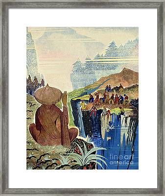 Illustration For Kim By Rudyard Kipling Framed Print by Francois-Louis Schmied