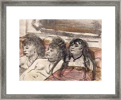 Illustration From La Maison Tellier Framed Print by Edgar Degas
