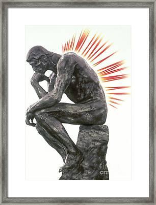 Illustration Of Back Pain Framed Print by Dennis Potokar