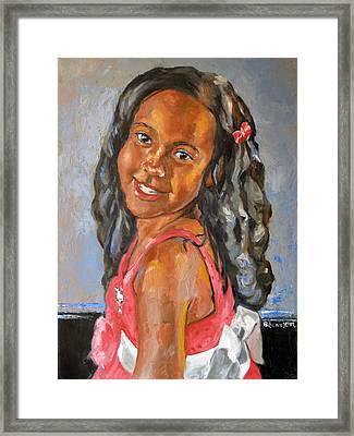 Illyana Framed Print by Becky Kim