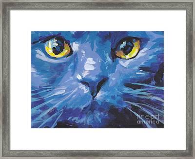 I'm Blue Framed Print by Lea S