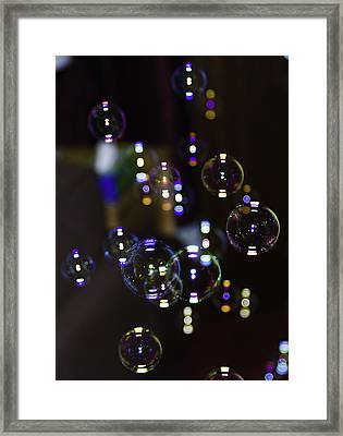 I'm Forever Blowing Bubbles Framed Print by Buster Brown