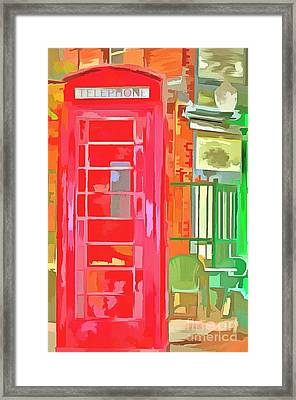 I'm Just A Phone Call Away Framed Print by L Wright