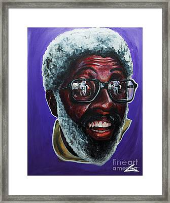 Ima Call Him Clay Framed Print by Chuck Styles