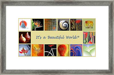 Image Mosaic - Promotional Collage Framed Print by Ben and Raisa Gertsberg