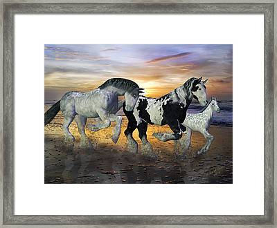 Imagination On The Run Framed Print by Betsy C Knapp