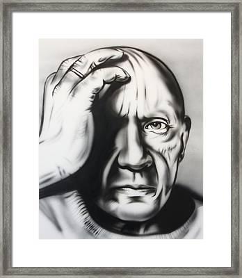 Pablo Ruiz Y Picasso Framed Print by Frank Lucas