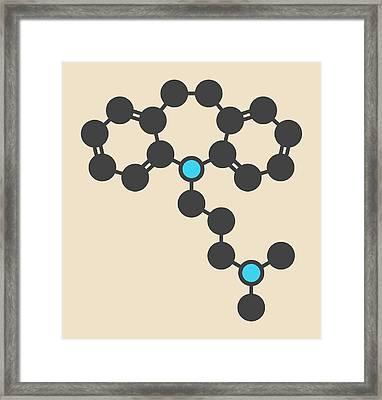 Imipramine Antidepressant Drug Molecule Framed Print by Molekuul
