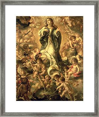 Immaculate Conception Framed Print by Juan de Valdes Leal