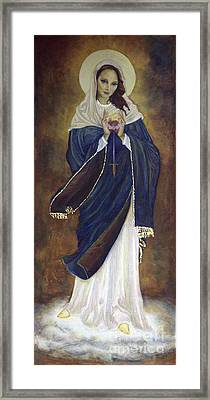 Immaculate Heart Framed Print by Gina Switzer