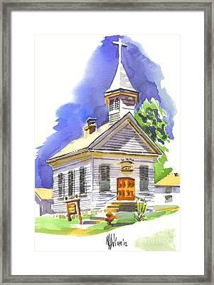 Immanuel Evangelical Lutheran Church Pilot Knob Missouri Framed Print by Kip DeVore