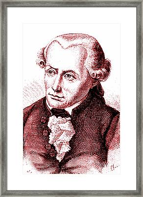Immanuel Kant Framed Print by Collection Abecasis