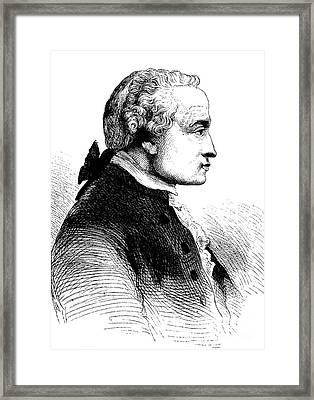 Immanuel Kant, German Philosopher Framed Print by Bildagentur-online